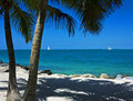 Sailboats off Key West Royalty Free Stock Photo