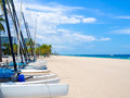 Sailboats for rent at Fort Lauderdale beach in Florida Royalty Free Stock Photo