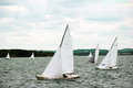Sailboats sail on the sea Royalty Free Stock Photo