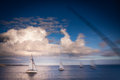Sailboats in the sea Royalty Free Stock Photo