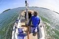 Sailing around Stock Image