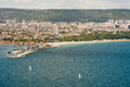 Sailing in the bay of varna in bulgaria training cadets school Royalty Free Stock Images