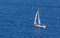 Sailing boat in the Aegean Stock Photography