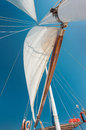 Sailing boat in aegean sea in turkey Royalty Free Stock Images