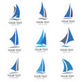 Sailing boat logo vector Royalty Free Stock Photo