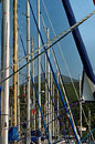 Sailing Boat Masts  Stock Photography