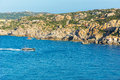 Sailing boat navigating to Santa Teresa of Gallura, Sardinia, It Royalty Free Stock Photo