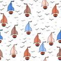 Sailing boat pattern