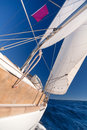 Sailing boat in the sea Royalty Free Stock Images
