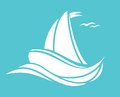Sailing boat vector illustration of Royalty Free Stock Photo