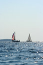 Sailing boats on adriatic sea croatia Royalty Free Stock Photos