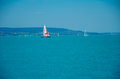 Sailing Boats on Balaton Lake Royalty Free Stock Photo