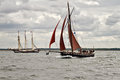 Sailing boats boat on the baltic sea hanse sail parade rostock germany Royalty Free Stock Images