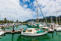 Sailing boats docked at the shore Royalty Free Stock Photo