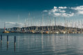 Sailing Boats In Harbor At Lake Balaton In Hungary Royalty Free Stock Photo