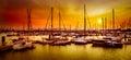 Sailing Boats At Harbor At Ora...