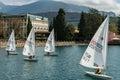 Sailing Boats Lake Garda Italy Royalty Free Stock Photo