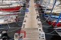 Sailing boats in a marina Stock Photos