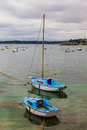 Sailing boats near st malo in brittany france Royalty Free Stock Photo