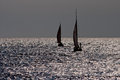 Sailing boats at sea. Stock Image