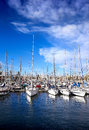 Sailing boats in yacht club at summer spaine Royalty Free Stock Photos