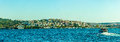 Sailing bosphorus panorama of the istanbul turkey Royalty Free Stock Photography