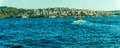 Sailing bosphorus panorama of the istanbul turkey Stock Photos