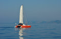 Sailing catamaran in the Ionian Sea Royalty Free Stock Images