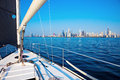 Sailing in Chicago Royalty Free Stock Photo