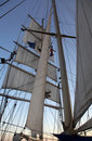 Sailing on a Clipper ship Stock Image