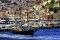Sailing the Greek islands Royalty Free Stock Photo