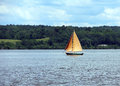 Sailing the hudson beautiful sailboat on river new york Royalty Free Stock Photography