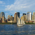 Sailing in the Hudson River Royalty Free Stock Photo