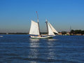 Sailing on Hudson River, New York Royalty Free Stock Photo