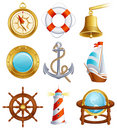 Sailing icon Royalty Free Stock Images