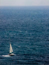 Sailing on the mediterranean sea Royalty Free Stock Image