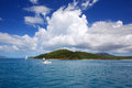 Sailing near whitehaven beach in whitsundays the queensland australia Stock Image