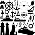 Sailing object vector Royalty Free Stock Photo
