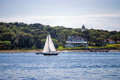 Sailing off Cape Cod Royalty Free Stock Photo