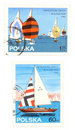 Sailing - old postage stamps Stock Photo