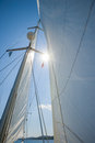 Sailing in phuket island lefkas greece Stock Image
