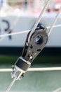 Sailing pulley Royalty Free Stock Photo
