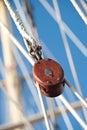 Sailing Pulley Block Royalty Free Stock Photo