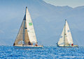 Sailing regatta j in greece Royalty Free Stock Image