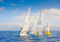 Sailing regatta j in greece Stock Photo