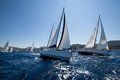 Sailing regatta from Marmaris to Fethiye, Turkey. Royalty Free Stock Image