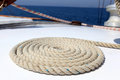 Sailing rope on board of a yacht Royalty Free Stock Image