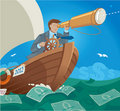 Sailing in the Sea of Money Royalty Free Stock Image