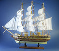 Sailing ship on blue Stock Photos