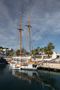 Sailing ship in Cartagena, Spain Stock Photos